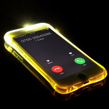 For iPhone X Case Fashion New Soft TPU LED Flash Light Up Case Remind Incoming Call Cover For iPhone 7 case 6 6S 8 Plus 5 5S SE