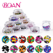12 Colors Mixed Color Round Shape Nail Glitter 1/2/3mm Ultrathin Round Glitter Paillette Sequins Nail Art Decoration DIY(China)
