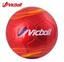 2016PVC Laser soccer ball size 5 men training balls red color(China)