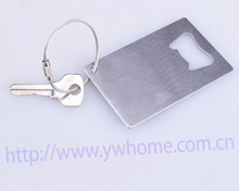 New Credit Card Size Beer Soda Bottle Cap Opener Stainless Steel Bar Tool Silver(China)
