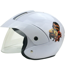 2015New  motorcycle children helmet motorcycle half face helmet with cartoon pattern age:2-9 size:49-53cm 4 kinds of color