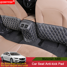 For Buick Regal Opel Insignia 2017 2018 3pcs Car Seat Back Anti-Child-Kick Pad Cover Backseat Children Kick Protect Mat QCBXYYXH(China)