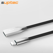 SUPTEC USB Cable for iPhone X 8 7 6s 6 Plus SE 5s 5 iPad mini air 2 3 iPod Zinc Alloy Fast Charging Data Cable 2.1A Charger Cord(China)