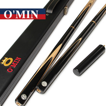 2016 O'Min Handmade Snooker Billiards with Snooker Cue 3/4 Case 9.8-10mm Tips Tacos De Snooker China