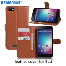 50 pcs  Case For BLU Advance 5.0 Wallet Book Style PU Leather Phone Cover Credit Card Holder Protective Cases Cell Phone case
