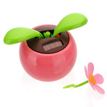 2017 Flip Flap Solar Powered Flower Flowerpot Swing Dancing Toy Novelty Home Ornament free shipping