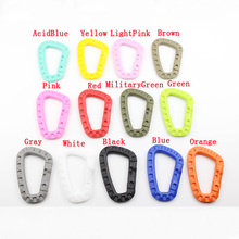 500pcs Colorful Carabiner Snap Hanging Hook D-Ring Spring Plastic Strong Tactical Tac Link Backpack EDC Tool Keychain #BJ097-C