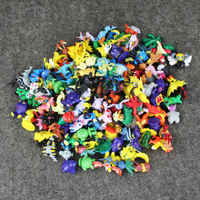 Fullset 144pcs/lot pocket pet Pikachu pvc figure mixed style toy