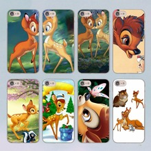 Bambi and Thumper design transparent clear hard case cover for Apple iPhone 7 7Plus 6S 6 Plus 5 5s SE 5C