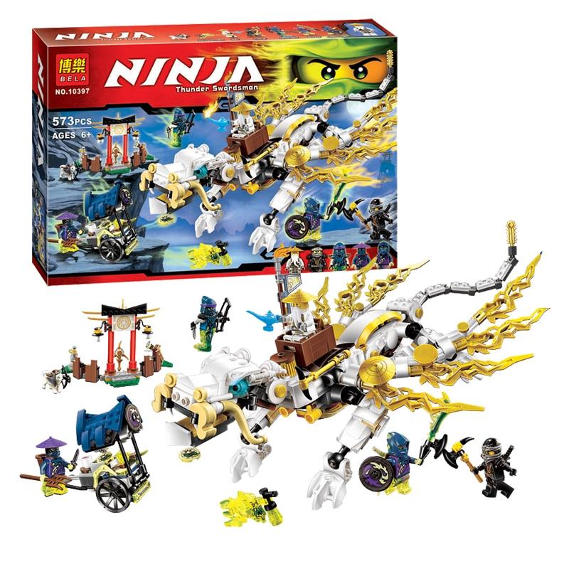 Pogo Lepin 575pcs 10397 Master WU Dragon Ninjagoe Thunder Swordsman Building Blocks Bricks Toys Compatible Legoe<br>