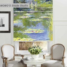 MOMO Blackout Window Curtains Roller Shades Blinds Thermal Insulated Fabric Custom Painting,PRB set532-537