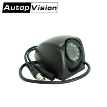 AV-781A 10PCS AHD camera car vehical security cctv camera with PAL NTSC DC12V 108 Angle Lens 290 Current Consumption bus use