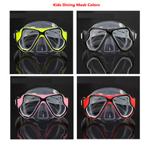 Clear silicone kids swimming and diving mask Twin lens low profile child snorkel mask New quality Kid diving and swimming gears