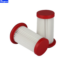 2 Pieces white hepa air filter cartridge for vacuum cleaner parts replacement hepa filter for Philips FC8198 FC8199