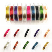 LNRRABC New 1 Roll 0.3mm Sturdy Alloy Copper Wire DIY Beading Wire Jewelry Making Cord/String Accessories(China)