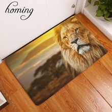 homing new arrive in front of door floor mats the king of the prairie fiercely lion printed mats fashion rectangular rug 40*60cm(China)