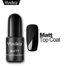 Yinikiz Black Bottle Matt Top Coat Gel Nail Polish French Tips Nail Design Kit UV LED Soak-Off Dull Frosted Surface Permanent