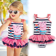 2017 New Cute baby girl swimwear one piece Kids girls swimsuit kid/children swimming Suit One Piece Swim Wear Children Swimming