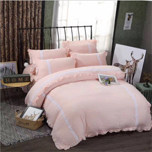 new style Colorless, NEW bedding Special lace, 4pcs 1pcs quilt cover/1pcs bed sheet/2pcs pillowcase free shipping(China)