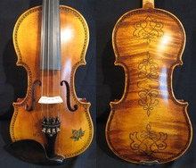 Strad style SONG Brand Maestro drawed/inlay violin 3/4 good sound #11455(China)