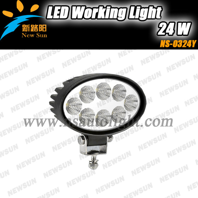 IP68 led offroad working lights 24w led flood light for off road high brightness auto led daytime running light<br>