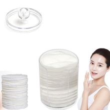 Cylinder Acrylic Cotton Storage Box Makeup Cotton Nail Remover Container Hold Make up Cotton Pad Box