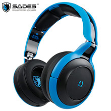 SADES D806 Bluetooth 4.1 Headset Foldable Wireless Stereo Blue tooth Headphones Handsfree Earphones With Mic For iPhone/Xiaomi
