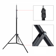 "Photographic equipment 2m 1/4 Light phone stand camera holder Stand Lamp cap 6'56"" Tripod Photo Studio Accessories(China)"