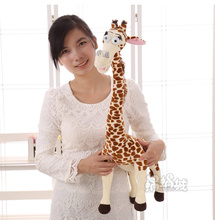 1pc 50cm cartoon movie Madagascar creative simulation Large super cute forest sika deer thin giraffe plush toy doll baby gift