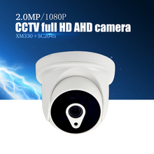 YiiSPO AHD 1080P IR Mini Dome Camera 2.0MP AHD Camera indoor IR CUT Night Vision 3.6mm XM330+SC2045 indoor CCTV security camera(China)