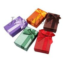 Valentines Day Gifts Boxes Packages Cardboard Ring Boxes, Rectangle, Mixed Color, 80x50x25mm