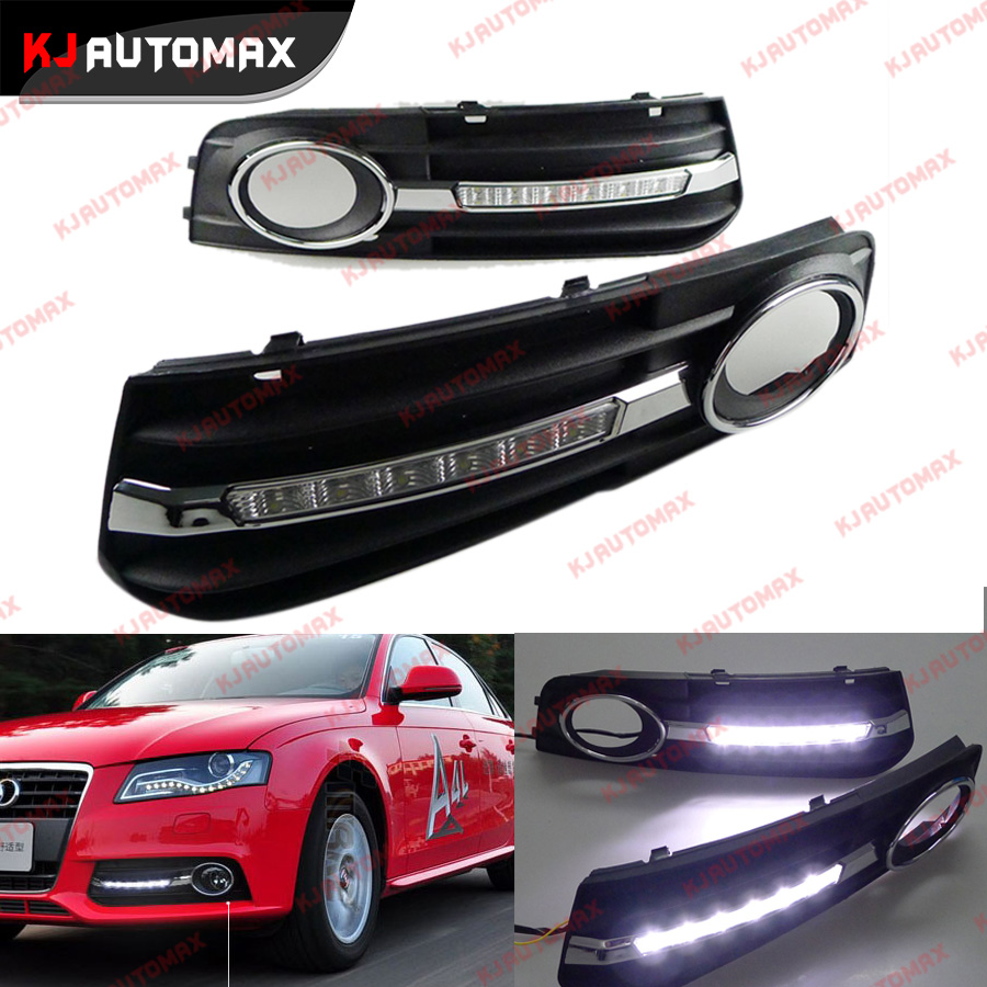Car Styling DRL For Audi A4 2009 2010 2011 2012 Daytime Running Light Modified Fog Light Lamp Upgrate<br><br>Aliexpress