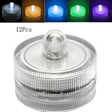 12pcs/lot Romantic Waterproof Submersible LED Tea Light Electronic Candle Light for Wedding Party Christmas Valentine Decoration
