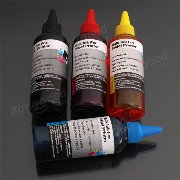 Free shipping 2017 New [Hisaint ink] 4 Colors 100ml Universal Refill Ink C M Y K for Epson Canon HP Brother Printer<br><br>Aliexpress
