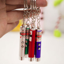 Great Random Color!! New Cool 8cm Red Laser Pointer Pen With White LED Light Childrens Play Cat Toy