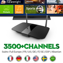 Q1504 Smart HD IPTV Android tv Set Top Box with IPTV Arabic French IPTV Europe Account Subscription 1 year Italy Media Player