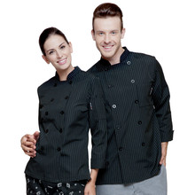 (5 get 10% off,10 get apron)Classy man/woman chef wear chef uniform chef clothes long sleeve restaurant hotel kitchen coverall