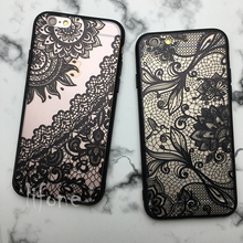 Fashion 3D Relief Lace Mandala Rose Henna  Skirt Case Cover For iPhone 7 6 6S Plus Sunflower case For iPhone 6 7 6S Fundas Capa