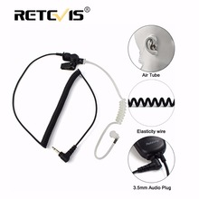 Retevis 3.5mm Audio Plug With Acoustic Tube Earpiece Listen/Receiver Only Headset For Motorola Walkie Talkie/Speaker Mic C9049A