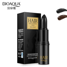BIOAQUA Brand Temporary Hair Dye Cream Black Brown Mild Fast One-off Hair Color Pen Cover White Hair DIY Styling Makeup Stick(China)