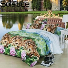 Solstice Home Textile 3D Cartoon Animals Tiger Panda Style 3/4pcs Bedding Sets Duvet Cover Beddingset Bed Sheet Pillowcase