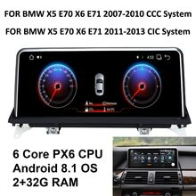 COIKA Android 8,1 Системы Авто Экран для BMW X5 E70 X6 E71 2007-2013 6-Core Процессор 2 + 32G RAM gps Navi Радио BT WI-FI Google AUX(China)