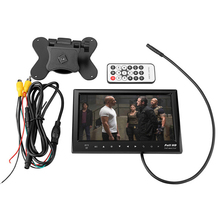 7 Inch Car MP5 Video Player Monitor Support FM transmitter SD USB MMC Flash Built in Speaker with Rear View CCD Camera(China)