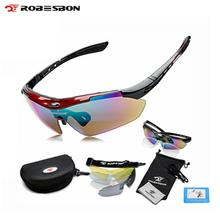 ROBESBON Sport Bike Bicycle Men Women Polarized Sunglasses Goggles Glasses Eyewear 5 Lenses Oculos Occhiali Ciclismo(China)