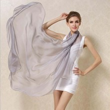Ladies Brand Grey Mulberry Silk Scarf Shawl 180*110cm Oversize Design Female Scarves Wraps Summer Sunshade Shawls Khaki Black(China)
