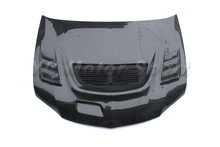 Car Accessories Carbon Fiber C-West Style Hood Bonnet Fit For 2003-2007 Evolution 8-9 EVO 8 9 Hood Car-stying(China)