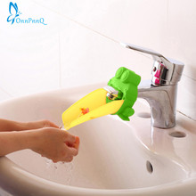2 Color Hot Sale Cute Frog Bathroom Sink Faucet Chute Extender Children Kids Washing Hands Convenient for Baby Washing Helper