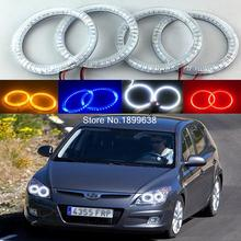 4pcs Super bright red blue yellow white 3528 smd led angel eyes halo rings car styling for Hyundai i30 2008 2009 2010 2011