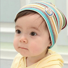 1 Piece Autumn Newborn Crochet Baby beanie Hat Girls Boys Cap Children Striped Infant Cute Cotton Spring Toddlers