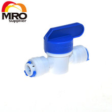 Equal Straight  OD Hose Quick Connection Ball Valve RO Water Reveser Osmosis Aquarium System Fittings
